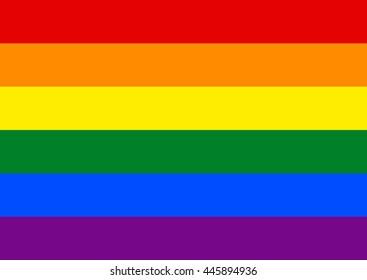 Rainbow Vector Flag