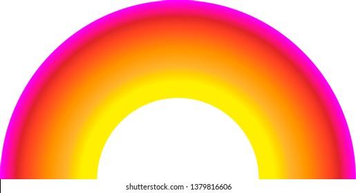 Rainbow vector icon