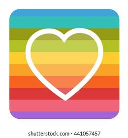 rainbow vector illustrated heart