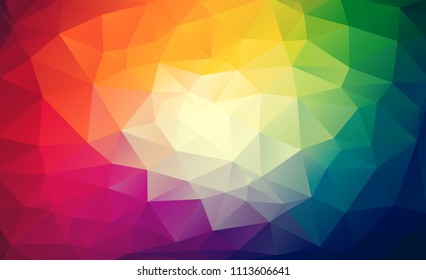 Rainbow vector wallpaper