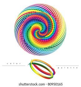 Rainbow vortex vector - Color guide palette backgrounds