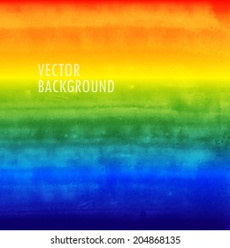 rainbow watercolor background. brushed ink texture. Abstract background for your design