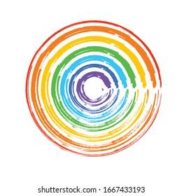 Rainbow Watercolor imitation Red, orange, yellow, green, blue, purple