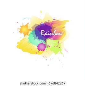 Rainbow watercolor and splash logo.