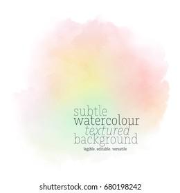 rainbow watercolor splotch