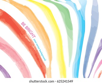 Rainbow watercolor stripes of the Zebra