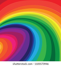 Rainbow Wave Background in Vector.