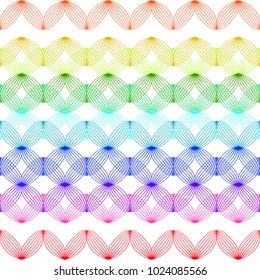 Rainbow zigzag - horizontal repeatable pattern