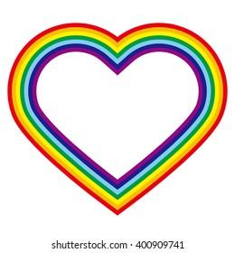 Rainbow-colored heart-shaped illustration