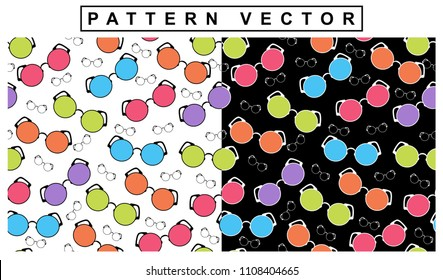 rainbow-colored spectacles for fabric decors and various prints