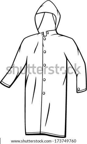 Raincoat Stock Vector Royalty Free 173749760 Shutterstock