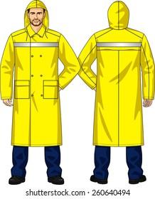 Raincoat alarm for men with pockets