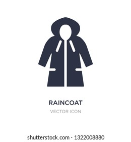 raincoat icon on white background. Simple element illustration from Autumn concept. raincoat sign icon symbol design.