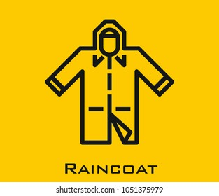 Raincoat vector icon