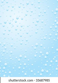 Raindrop on a window pane. Vector illustration