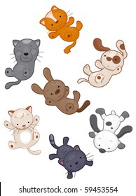 Raining Cats and Dogs - Vector