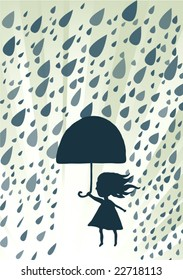Rainy cute illustration in vector