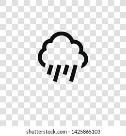 rainy icon from miscellaneous collection for mobile concept and web apps icon. Transparent outline, thin line rainy icon for website design and mobile, app development