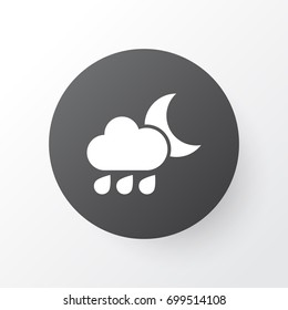 Rainy Icon Symbol. Premium Quality Isolated Nightly Element In Trendy Style.