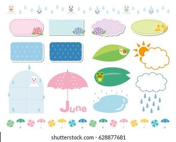 Rainy season frame and line set.