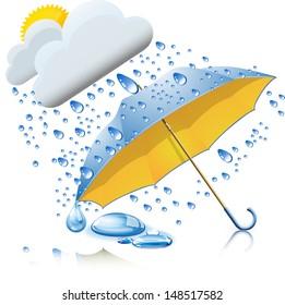 Rainy weather with umbrella