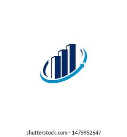 raise bar building logo financial business mark