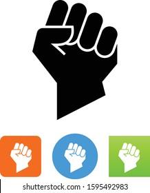 Raised Fist Hand Gesture Vector Icon