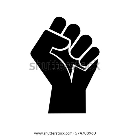 Raised Fist Symbol Victory Strength Power Stock Vector Royalty Free
