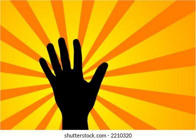 raised hand