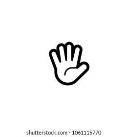 Raised hand icon