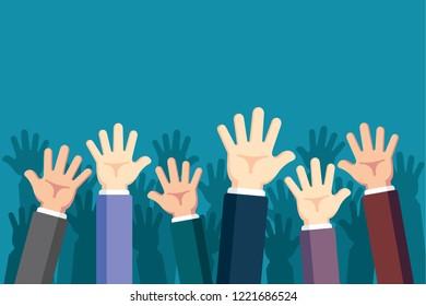 Raised Up Hands