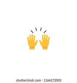 Raising Hands Vector Flat Icon