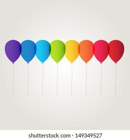 Raiwbow balloons.