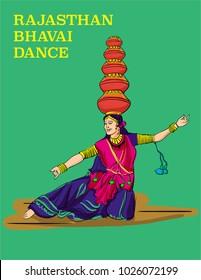 RAJASTHAN DANCE ILLUSTRATION