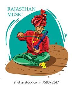 Rajasthan music vector illustration