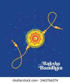 Rakhi Celebration Greeting Background Template Design Vector Illustration