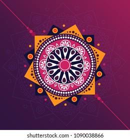 Rakhi decorative vector illustration concept for celebrating Raksha Bandhan  festival.