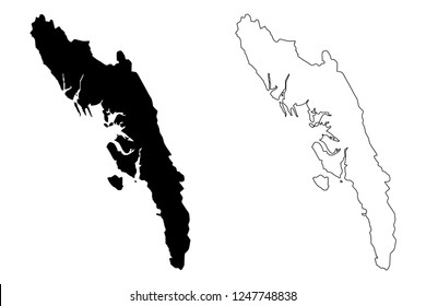 Rakhine State (Administrative divisions of Myanmar, Republic of the Union of Myanmar, Burma) map vector illustration, scribble sketch Arakan State map