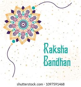 Raksha Bandhan Festival Greeting Card Template Design Vector Illustration