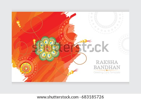 Raksha bandhan festival greeting card template stock vector royalty raksha bandhan festival greeting card template design vector illustration m4hsunfo