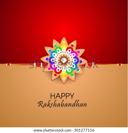 Raksha bandhan greeting card illustration beautiful stock vector raksha bandhan greeting card or illustration with beautiful rakhi m4hsunfo