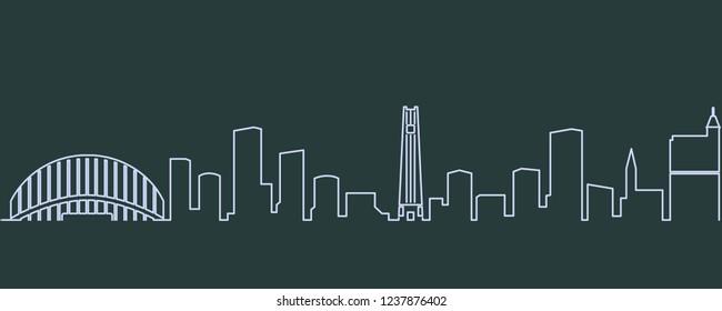 Raleigh Single Line Skyline