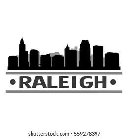 Raleigh Skyline Silhouette