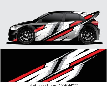 Rally car decal graphic wrap vector, abstract background