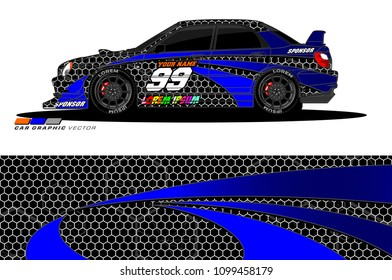 Rally car vector Livery. abstract lines for vehicle wrap and vinyl designs