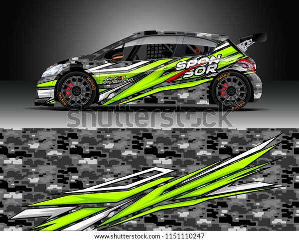 Rally Car Wrap Design Vector Truck Stock Vector Royalty Free