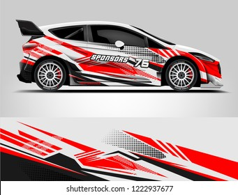 Rally car wrap livery design. eps format.