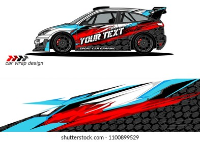 Rally car wrap vector designs. abstract livery for vehicle vinyl branding background