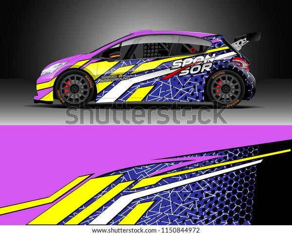 Rally Drift Car Wrap Design Vector Stock Vector Royalty Free