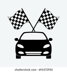 rally flage race icon vector